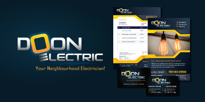 Doon Electric Logo Branding image