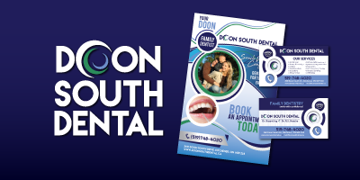 Doon South Dental Logo Branding Image