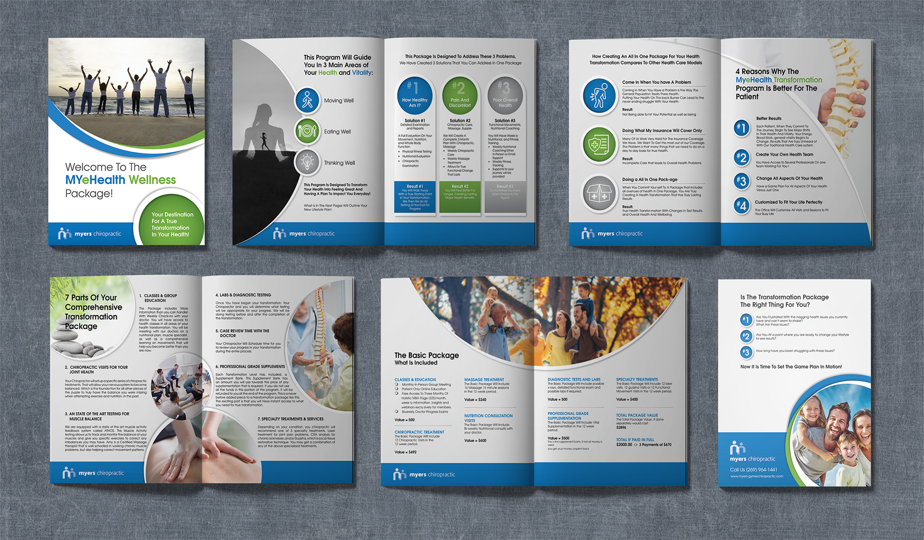 Myers Chiropractic Booklet Layouts