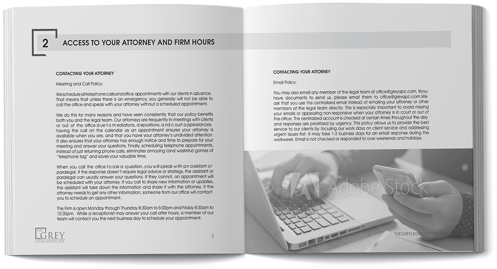 The Grey Legal Group - Welcome Packet Booklet